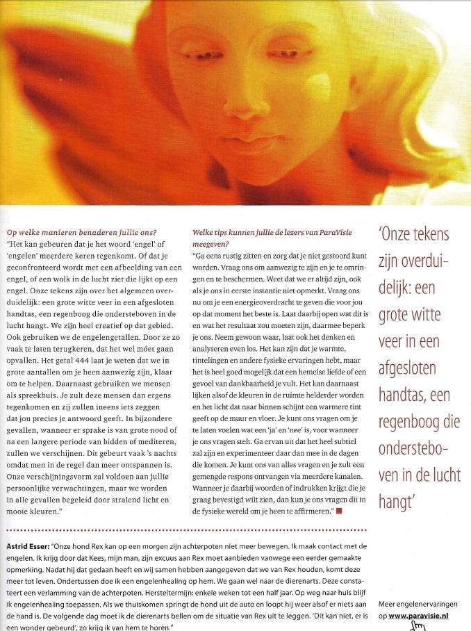 Engelen interview Annelies Hoornik Paravisie 2012