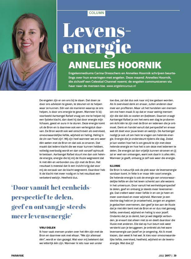 Annelies Hoornik Paravisie Column 2017 juli