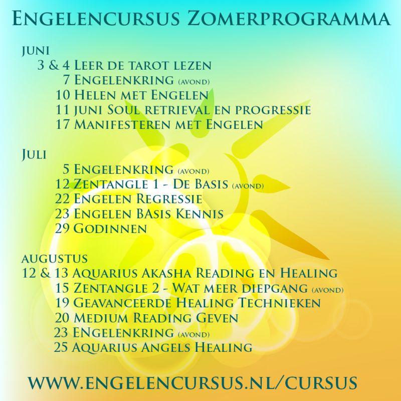 Het zomer cursus workshop engelen programma bij engelencursus