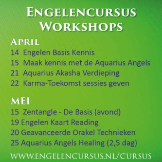 Engelencursus workshops in april en mei 2018