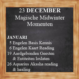 Engelen cursus december 2018 en januari 2019