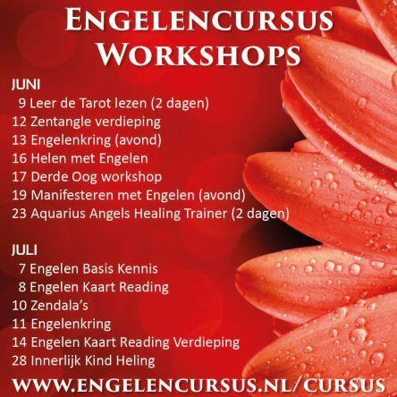 Engelen cursussen in juni en juli bij engelencursus