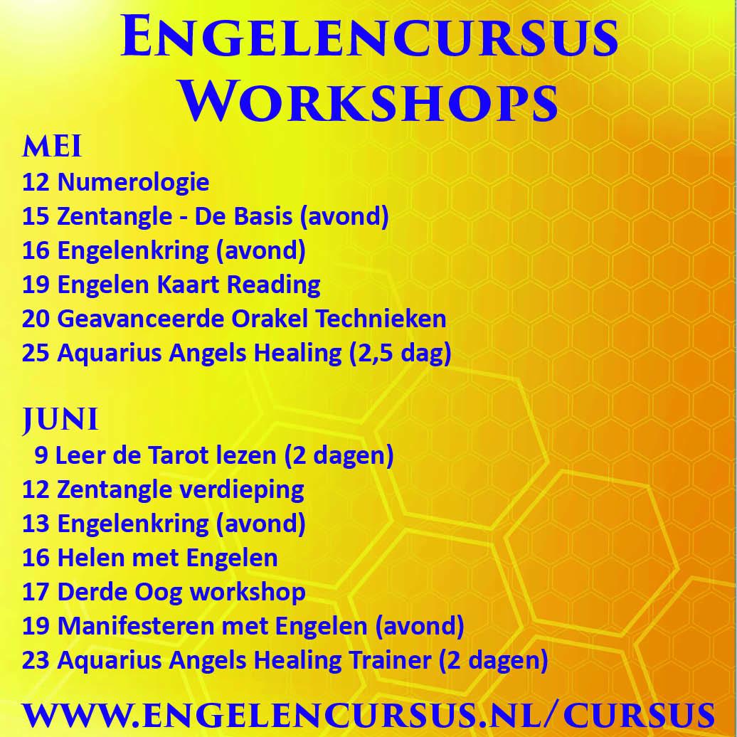 Engelen cursussen in mei en juni bij engelencursus