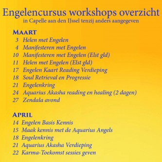 Engelencursus workshops in maart en april 2018