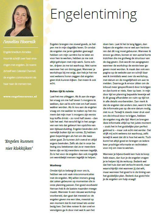 Annelies Hoornik Pravisie Engelencolumn