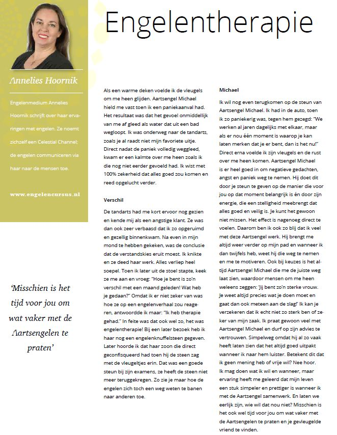 Paravisie column Annelies Hoornik 2018 mei