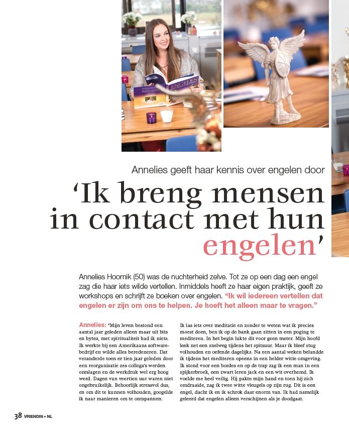 Annelies Hoornik geeft haar kennis over engelen door
