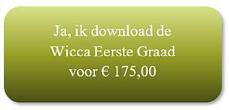 Wicca eerste graad - jaargang e-cursus 1 betaling