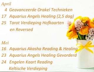 Engelen cursussen 2020 engelencursus april-mei