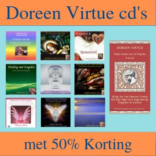 Doreen Virtue cd's met 50% korting