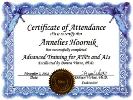 Certified Angel Therapy Practitioner Advanced Training Annelies Hoornik Doreen Virtue
