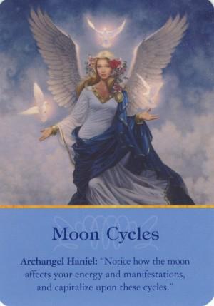 Maanfasen engelen kaart Doreen Virtue