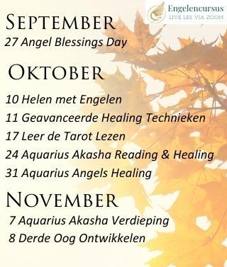 Live les in Zoom bij Engelencursus van Annelies Hoornik