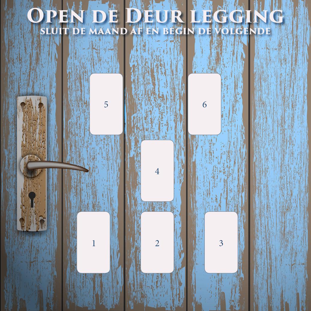 Open deur legging maand afsluiten volgende starten tarot orakel kaarten