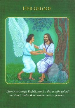 Aartsengel Rafael engelen kaart Doreen Virtue