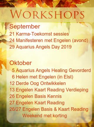 Engelen cursussen september oktober 2019 engelencursus