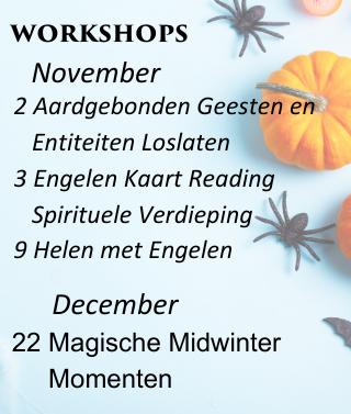 Engelen cursussen november december 2019 engelencursus