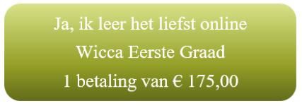 Wicca Eerste Graad Jaargang Online leren bij Thuisstudie.engelencursus.nl