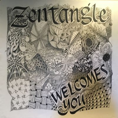 welkomstbord zentangle